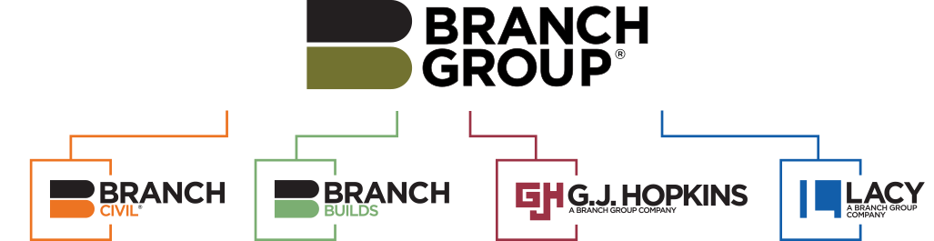 Find jobs at The Branch Group, Branch Civil, Branch Builds, G.J. Hopkins, and L.A. Lacy